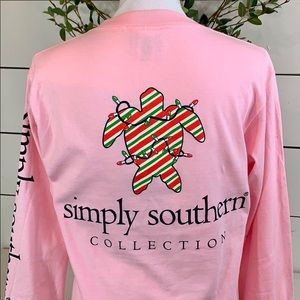 Simply Southern Holiday Long Sleeve Tee - Small